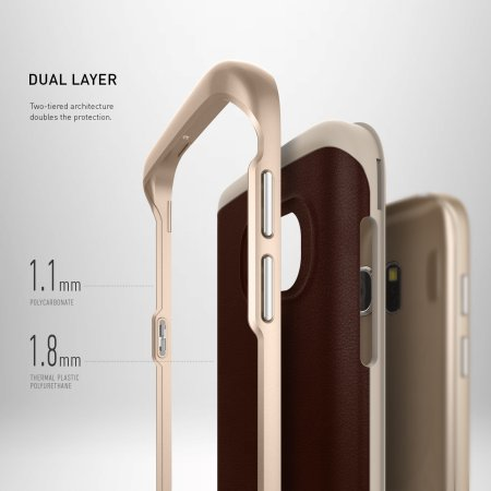 caseology galaxy s7 envoy series leather brown inflationary