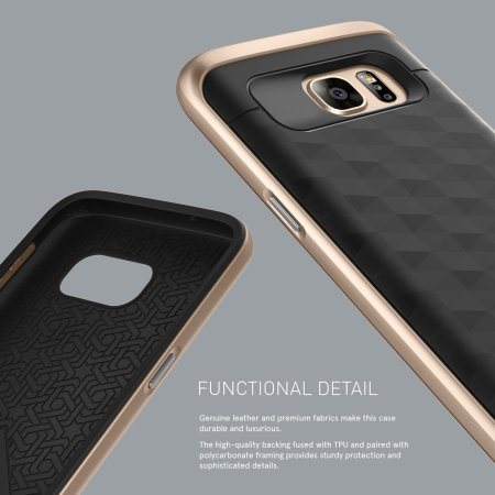 buy popular 70038 669fe Caseology Parallax Series Samsung Galaxy S7 Case - Black / Gold