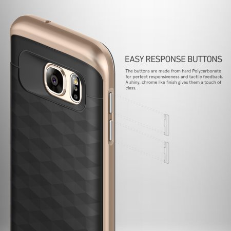 Caseology Parallax Series Samsung Galaxy S7 Case - Black / Gold