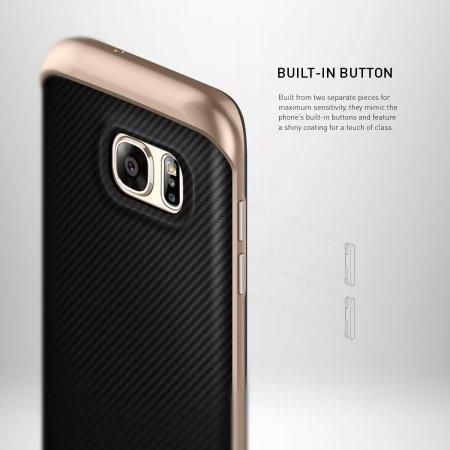 Caseology Envoy Series Galaxy S7 Edge Case - Carbon Fibre Black