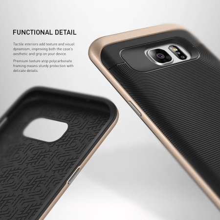Caseology Wavelength Series Samsung Galaxy S7 Edge Case - Black / Gold