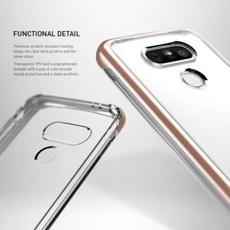 caseology skyfall series lg g5 case rose gold clear