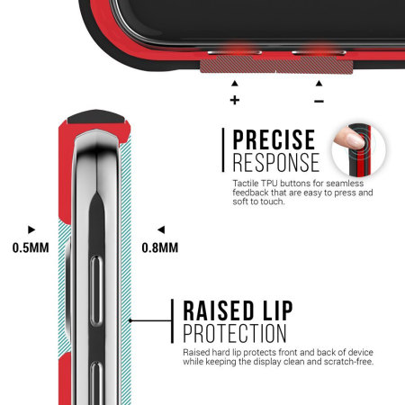 had caseology threshold series samsung galaxy s6 slim armour case red the hood