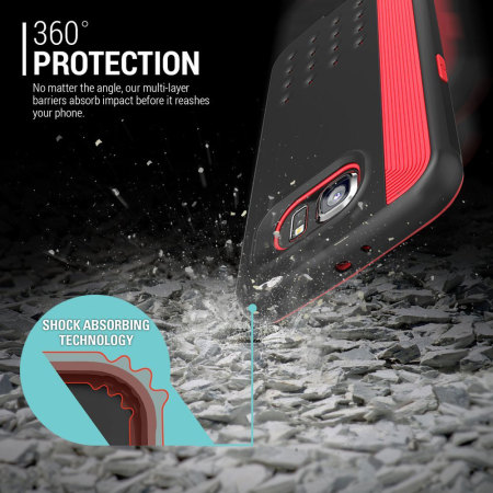 caseology threshold series samsung galaxy s6 slim armour case red