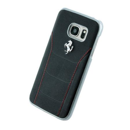426ec42fc Ferrari 488 Genuine Leather Samsung Galaxy S7 Hard Case - Black