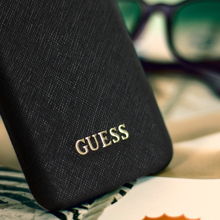 Guess Leather-Style Samsung Galaxy S7 Shell Case - Black