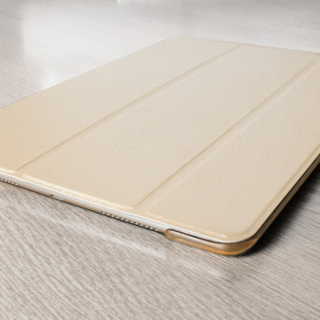 Olixar iPad Pro 9.7 inch Folding Stand Smart Case - Gold / Clear