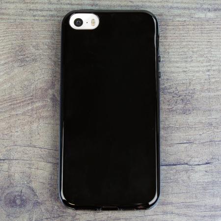 detailed look ca7a8 26af0 Olixar FlexiShield iPhone SE Gel Case - Black