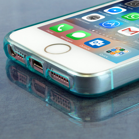 Olixar FlexiShield iPhone SE Gel Case - Blue