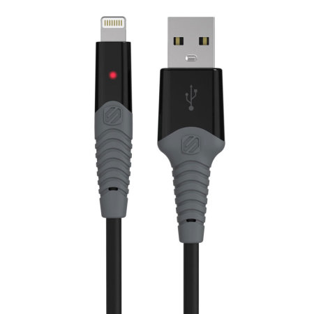 Scosche strikeLINE Rugged LED 1.8M Lightning Cable - Black