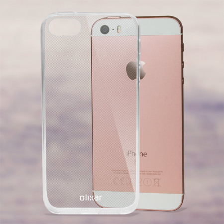 free shipping 84740 b2ff7 Olixar Ultra-Thin iPhone SE Gel Case - 100% Clear