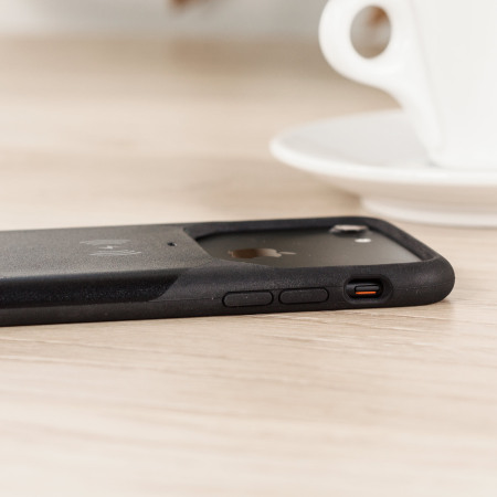 aircharge mfi qi iphone 6s / 6 wireless charging case - black