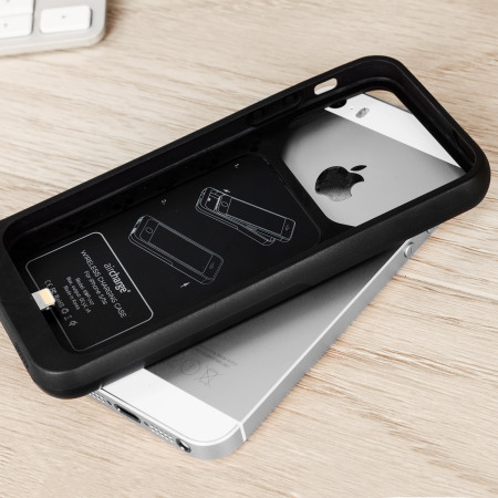 aircharge MFi Qi iPhone 5S / 5 Wireless Charging Case - Black