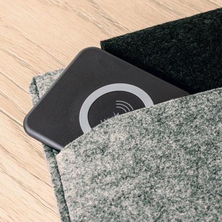 Aircharge Slimline Qi Wireless Charging Pad And US Plug - Black