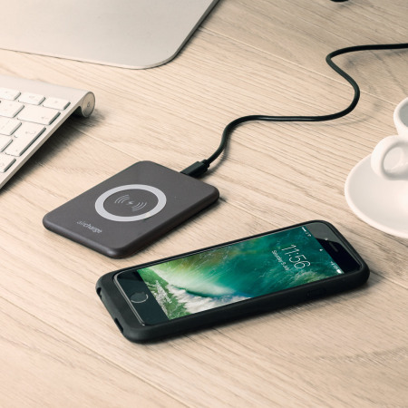 aircharge Slimline Qi Wireless Charging Pad and EU Plug - Black