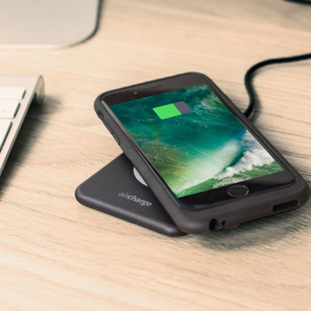 aircharge slimline qi wireless charging pad black