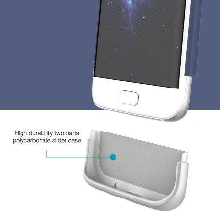 Prodigee Accent Samsung Galaxy S7 Edge Case - Navy Blue / Silver