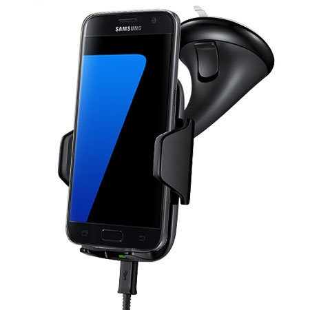 Samsung Galaxy S7 Qi Wireless Charging Car Holder - Black