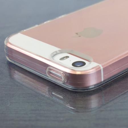 Olixar FlexiShield iPhone SE Gel Case - 100% Clear