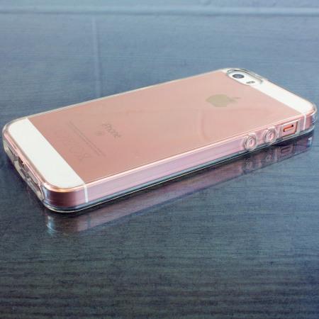 olixar flexishield iphone se gel case 100% clear check out website