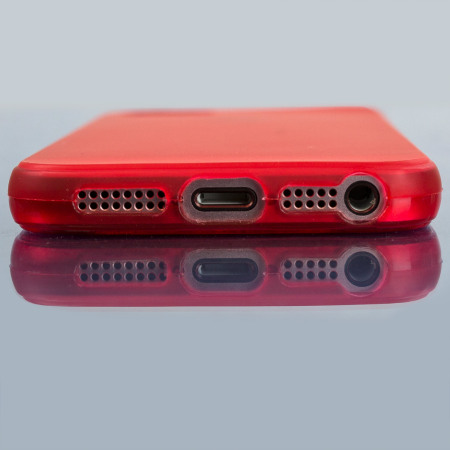 olixar flexishield iphone se gel case - red