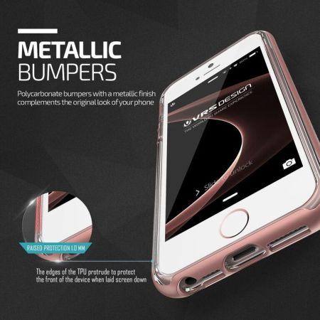 new styles 3e2ce ed65f VRS Design Crystal Bumper iPhone SE Case - Rose Gold
