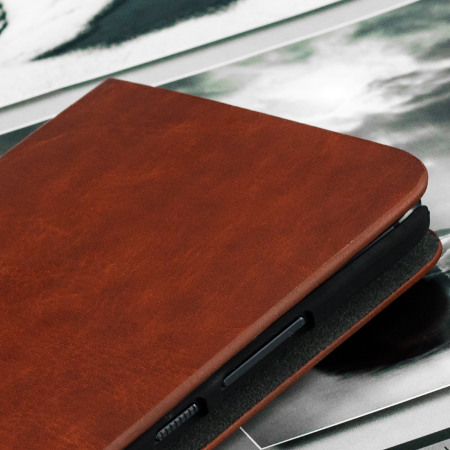 Olixar Leather-Style HTC 10 Wallet Stand Case - Brown