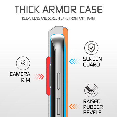Ghostek Atomic 2.0 Samsung Galaxy S7 Waterproof Tough Case - Silver