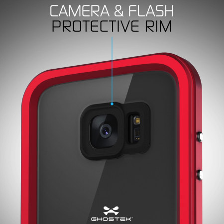 ghostek atomic 2 0 samsung galaxy s7 edge waterproof case red 2