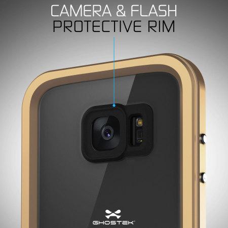 Ghostek Atomic 2.0 Samsung Galaxy S7 Edge Waterproof Case - Gold
