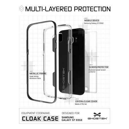 price ghostek cloak samsung galaxy s7 edge tough case clear gold