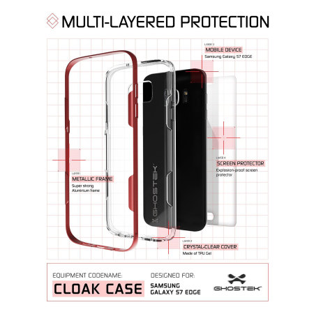 ghostek cloak samsung galaxy s7 edge tough case clear pink