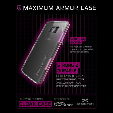 Ghostek Cloak Samsung Galaxy S7 Edge Tough Case - Clear / Pink