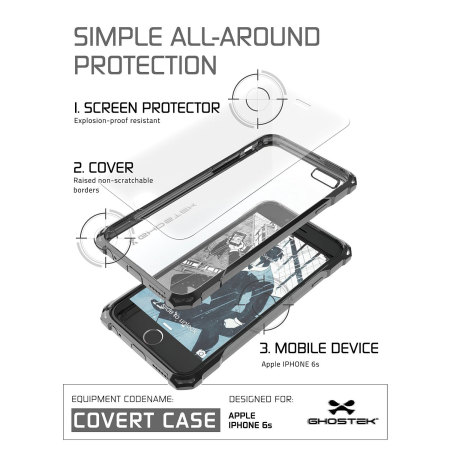 the padlock ghostek covert iphone 6s 6 protective case clear black 2 September