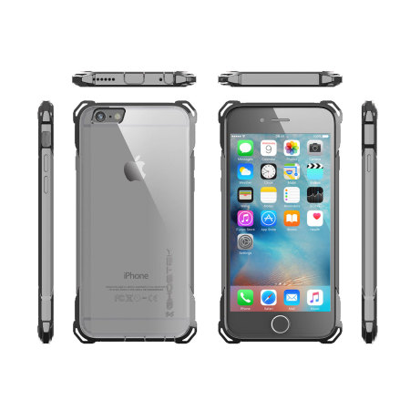 text and graphics ghostek covert iphone 6s 6 protective case clear black 2