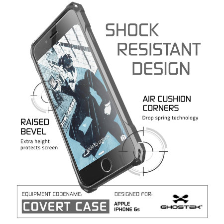 ghostek covert iphone 6s 6 protective case clear black 2