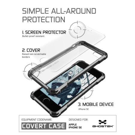 ghostek covert iphone se protective case black