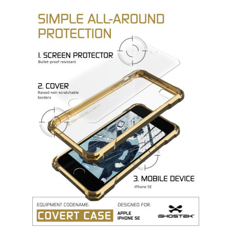 Ghostek Covert iPhone SE Protective Case - Gold