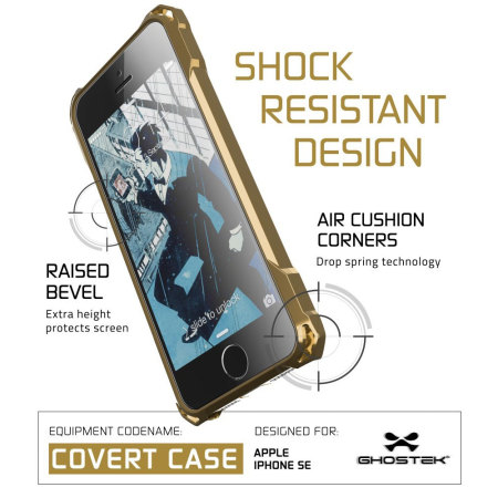 less expensive ghostek covert iphone se protective case gold wird