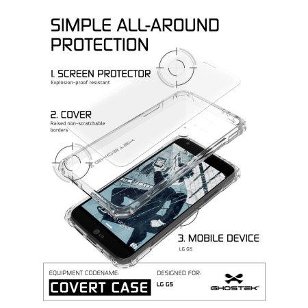 ghostek covert moto g4 plus bumper case clear gold LED Plus