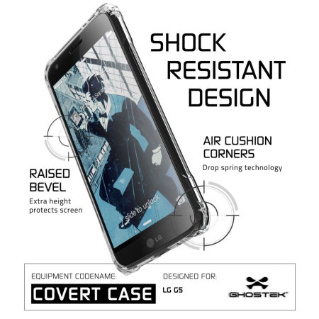 ghostek covert motorola moto z force bumper case clear 5