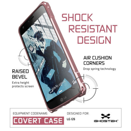 Ghostek Covert LG G5 Bumper Case - Clear / Pink