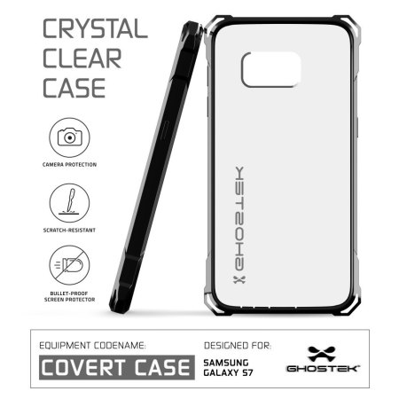 Ghostek Covert Samsung Galaxy S7 Bumper Case - Clear / Black