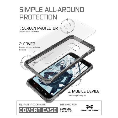 ghostek covert motorola moto z force bumper case clear 2 Android