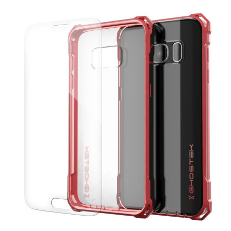 Ghostek Covert Samsung Galaxy S7 Bumper Case - Clear / Red