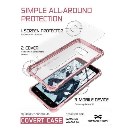 Ghostek Covert Samsung Galaxy S7 Bumper Case - Clear / Pink