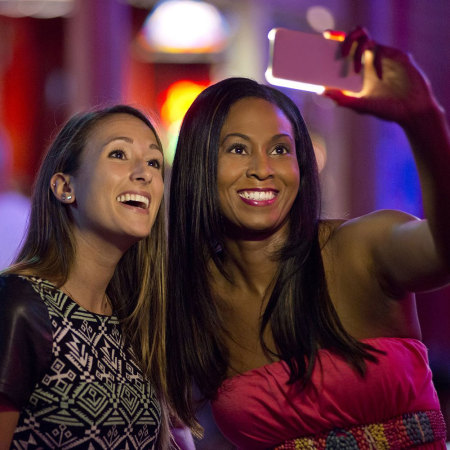LuMee iPhone SE Selfie Light Case - Black