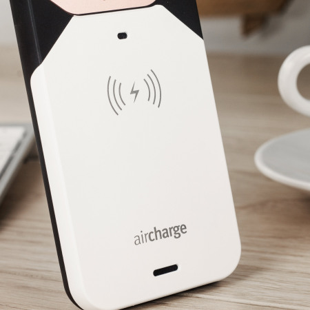 aircharge MFi Qi iPhone SE Wireless Charging Case - White