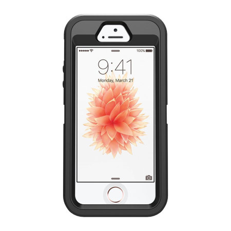 otterbox defender series iphone se case - black