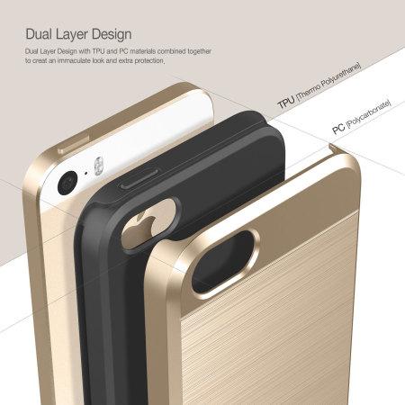 Obliq Slim Meta iPhone SE Case - Gold